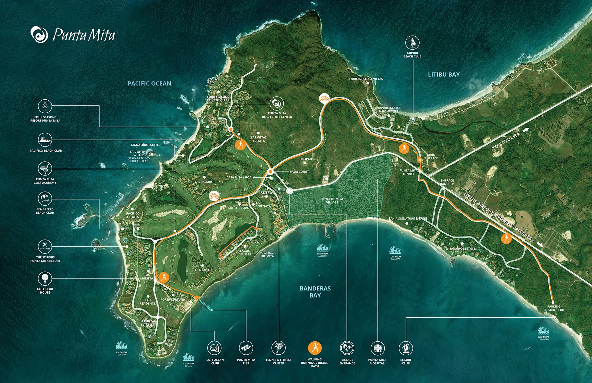 Punta Mita Map