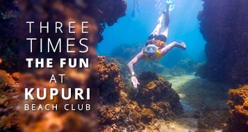 Three Times the Fun at Kupuri Beach Club