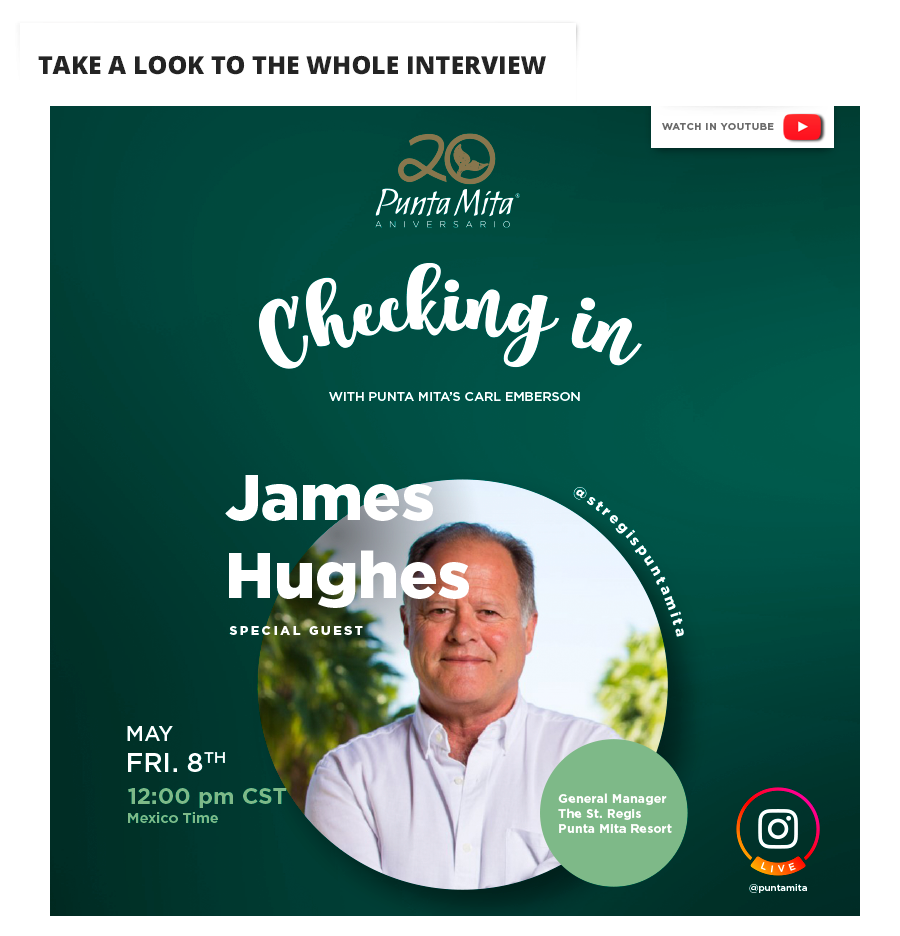 James Hughes Live in Punta Mita Youtube